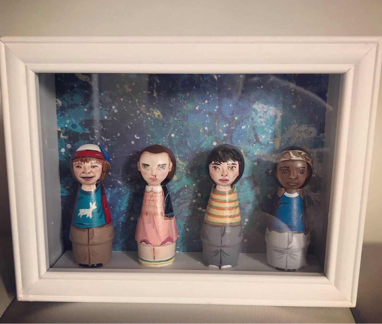 Stranger Things 3 Kid cast peg dolls