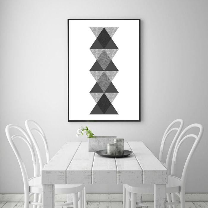 wandgestaltung schwarz weiß wohnzimmer einrichten poster - wohnzimmer weis schwarz gold