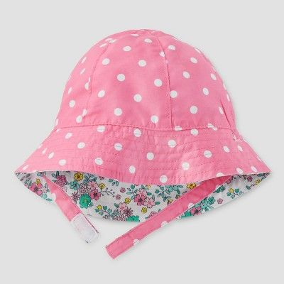 Baby Girls  Sunhat - Just One You Made by Carter s Floral Pink 0-6M ... 767444237d0