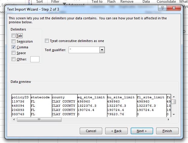 get excel 2013 to recognize the comma delimiter in a csv