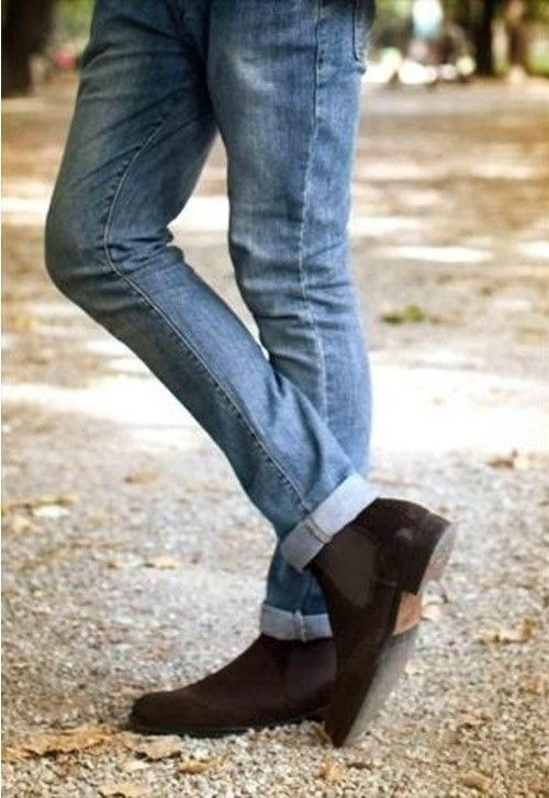 Shoes I Wish My Boyfriend Would Wear | Brown suede chelsea boots ...