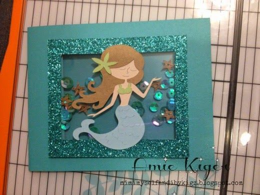 Mimi Myself And I A Little Mermaid Birthday Card Kids Birthday Cards Birthday Cards Handmade Birthday Cards