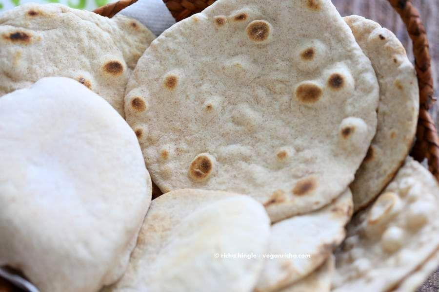 Vegan Yeast free Flatbread | Vegan Richa can be substituted with paleo flours that absorb water well