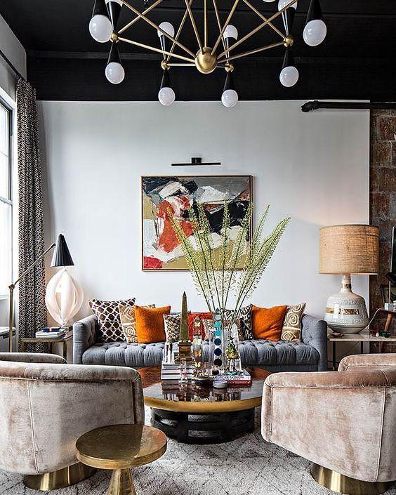 The Brooklyn Loft Benjamin Brougham Eclectic Living Room Eclectic Interior Room Interior