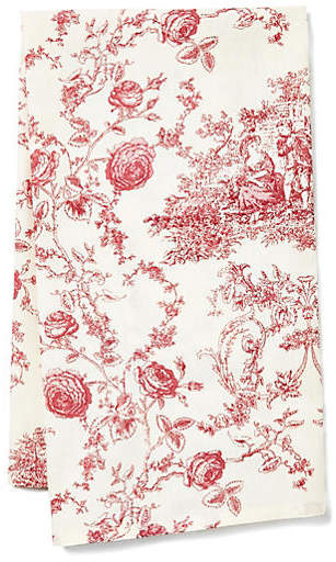 Princesse Tea Towel Ecru Berry Maison Du Linge Tea Towels