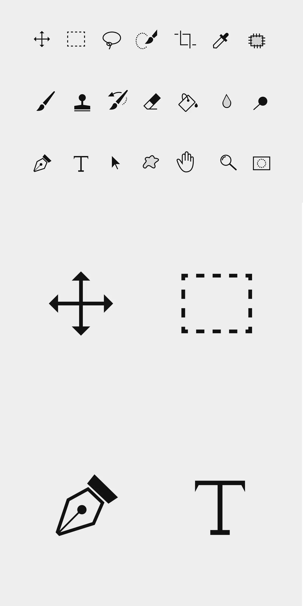 21 Photoshop Toolbar Icons Ai Psd Icons In 2018 Pinterest