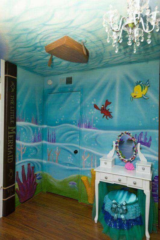 Stunning Under The Sea Decorating Ideas Kids Would Love Lareina June 5 2017 Indiy Crafts Ho In 2020 Little Mermaid Bedroom Little Mermaid Room Disney Princess Room