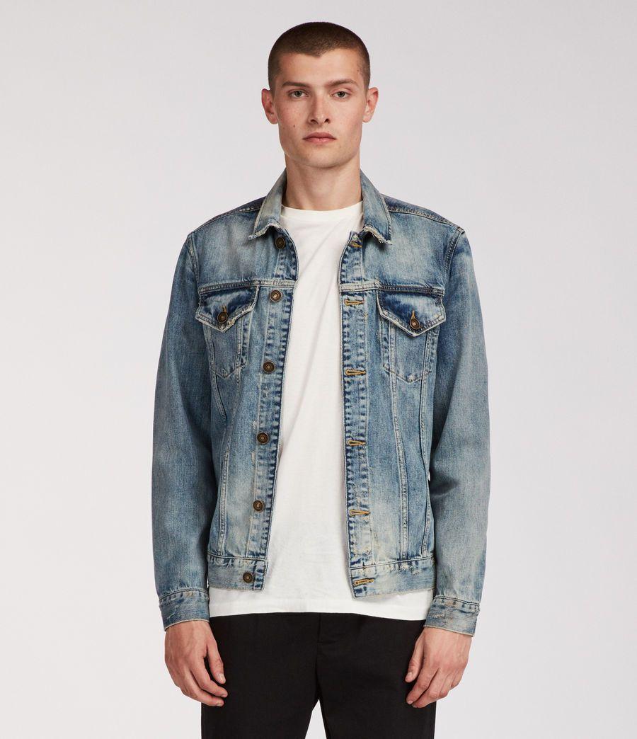 Mens Inverness Denim Jacket Indigo Image 1 Mens Fashion Coat Denim Jacket Denim Jacket Men [ 1044 x 900 Pixel ]