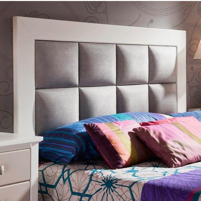 Cabecero madera y tapizado polipiel haya pinteres - Cabeceros de cama acolchados ...
