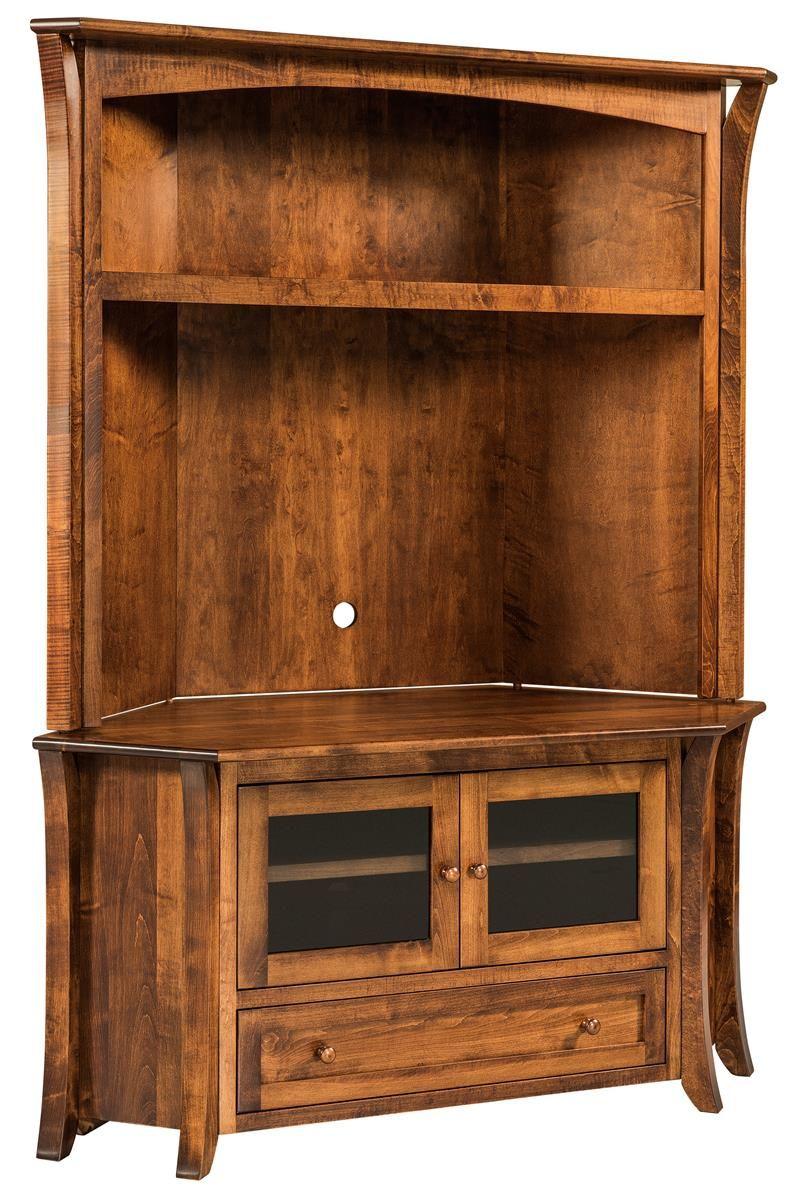 Modern Living Room Lcd Tv Stand Wooden Design Fa18b: Amish Caledonia Flat Screen TV Corner Cabinet