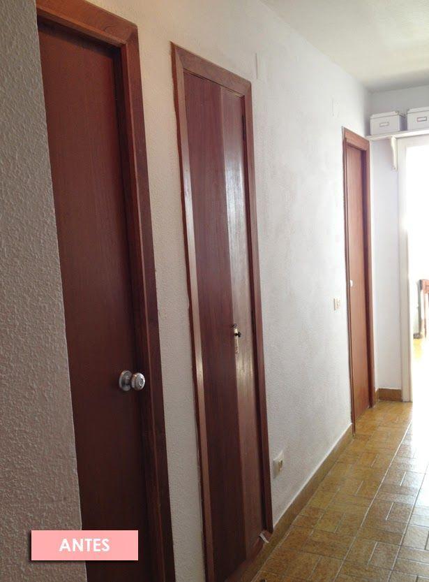 Antes despues puertas casa viejas nordicas encanto pintura - Pintar puertas viejas ...