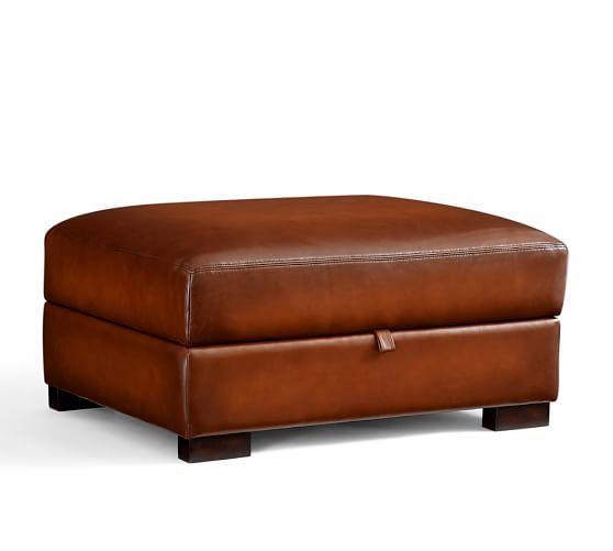 Turner Leather Storage Ottoman Leather Storage Ottoman Storage