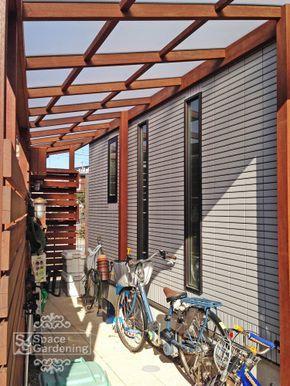サイクルポート 屋根材 ポリカーボネート パーゴラ屋根 パーゴラ 小屋を建てる