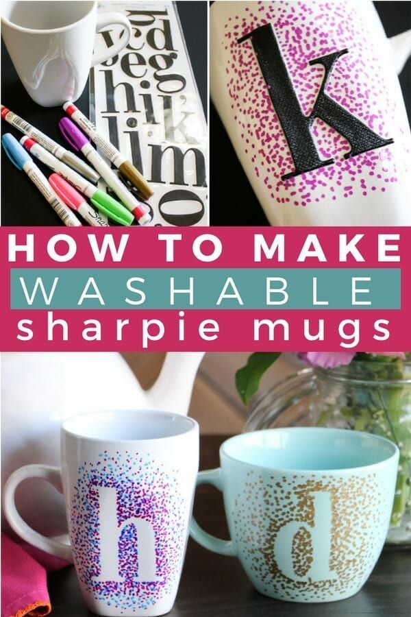 Easy Dotted Sharpie Mugs