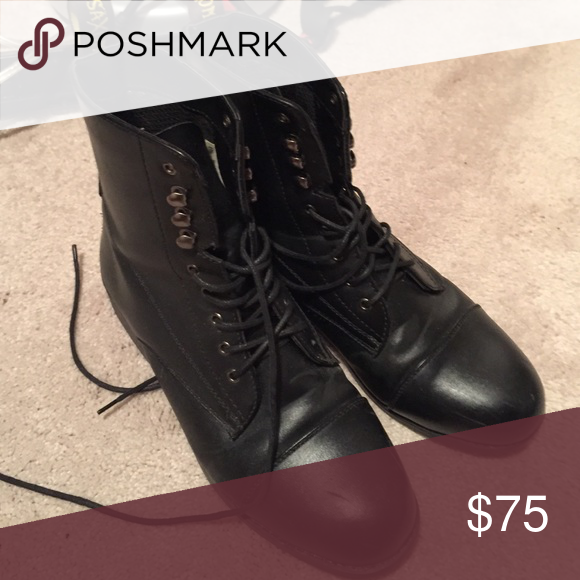 horseback riding boots black Shoes Combat & Moto Boots