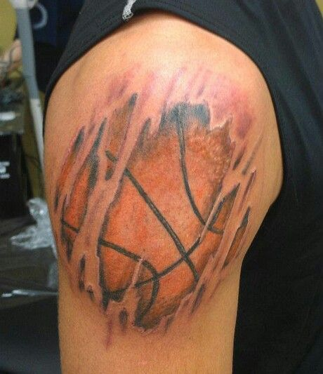 Basketball This Is What The Other Tat Made Me Think Of Basketball Tattoos Tattoos For Guys Tattoos For Women