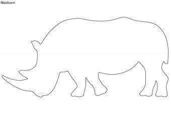 Silhouetten Wilde Tiere Pdf Nashorn Basteln Wilde Tiere Tiere