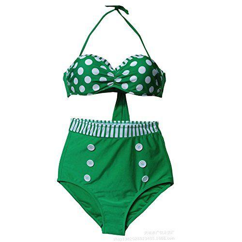 Teenloveme® Retro Pinup Girl High Waist Bikini Swimsuit Swimwear (S, 3106-G) Teenloveme http://www.amazon.com/dp/B00LUBVV92/ref=cm_sw_r_pi_dp_wQN-ub1F3035B