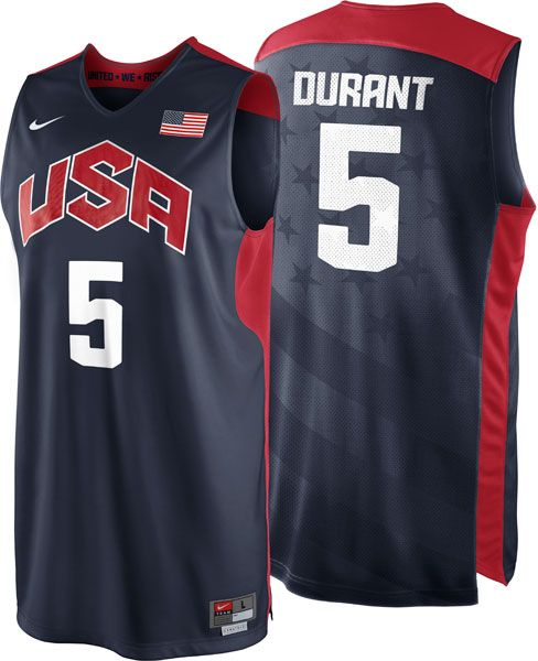 designer fashion 7e3d1 d48b0 Kevin Durant Youth Jersey: Youth Nike Team USA Basketball ...