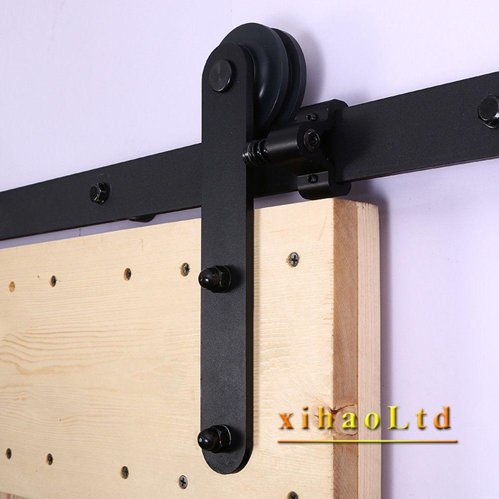 4 16ft Sliding Barn Door Hardware Track Kit American Style Single