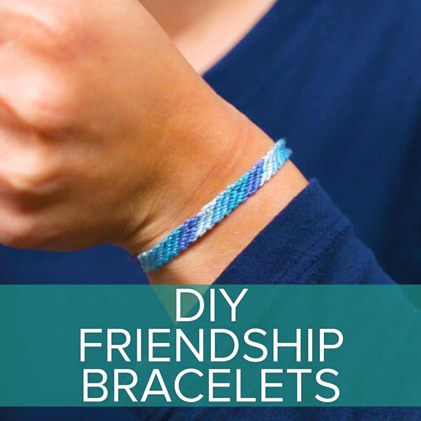 DIY Friendship Bracelets #childhood #crafts #DIY #diyjeanscrafts