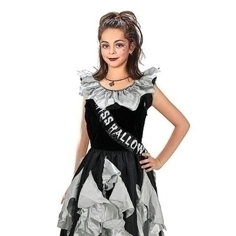 ZOMBIE PROM QUEEN SASH GOTHIC GOTH FANCY DRESS COSTUME ACCESSORY HALLOWEEN