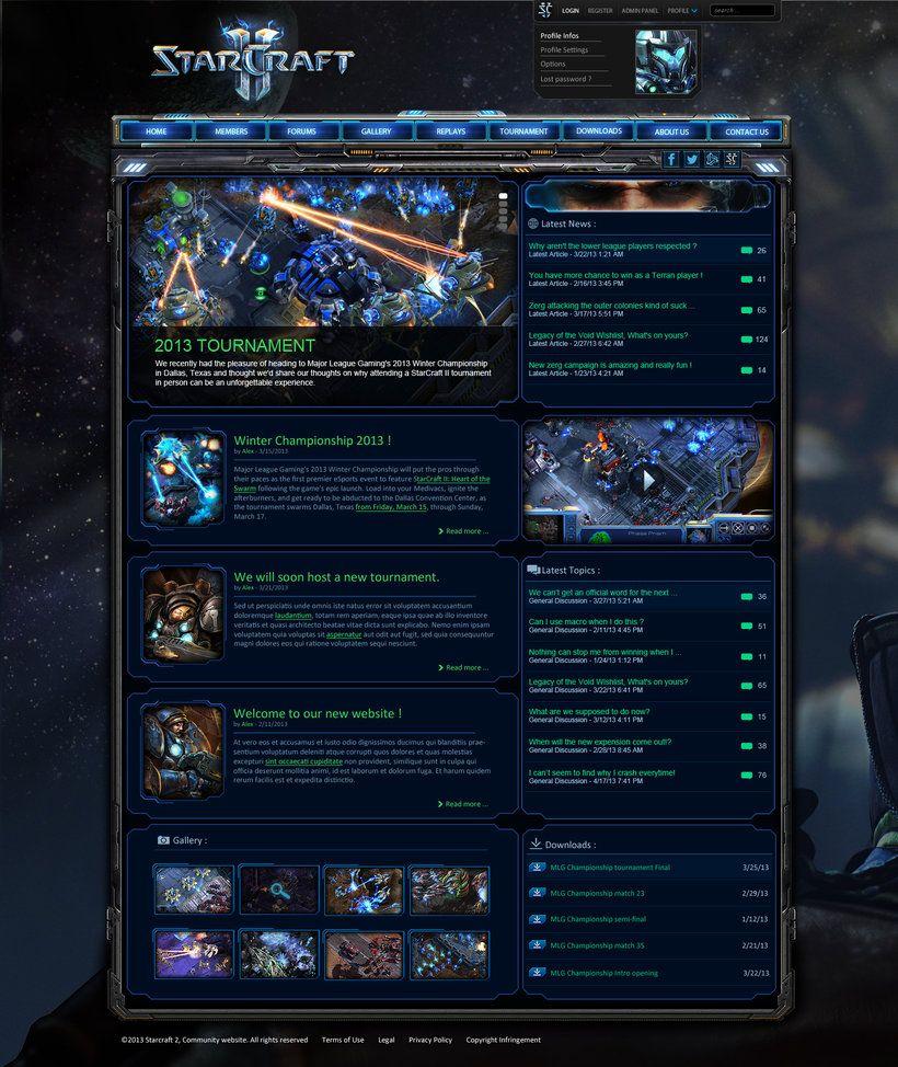 Starcraft 2 ultimate community template by ~mazzery on deviantART