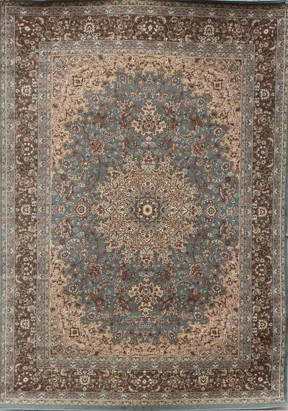 New City Light Blue Silver Traditional Isfahan
