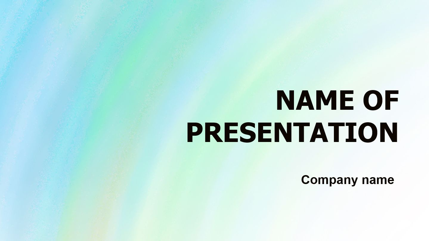 Aquamarine PowerPoint theme. This beautiful and creative PowerPoint ...
