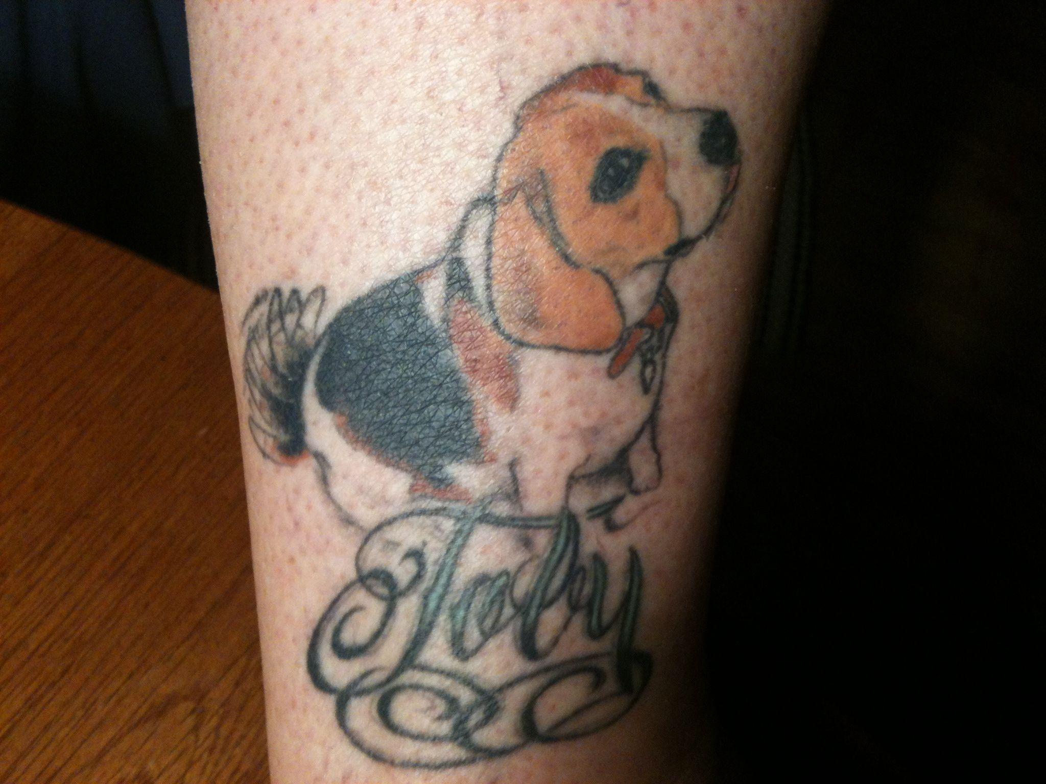 My Tattoo Of My Best Friend Toby 3 Beagle Tattoo