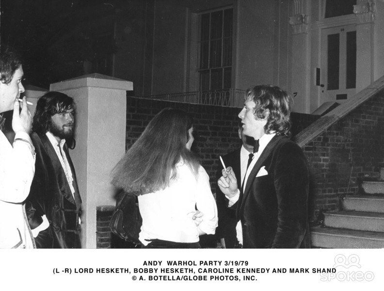 Lord Hesketh, at left, with Caroline Kennedy and others at an Andy Warhol party. Easton Neston in the 1970s was not for the usual country house set. Curiously, when Hesketh entered the House of Lords in the 80s he was a Thatcherite conservative.