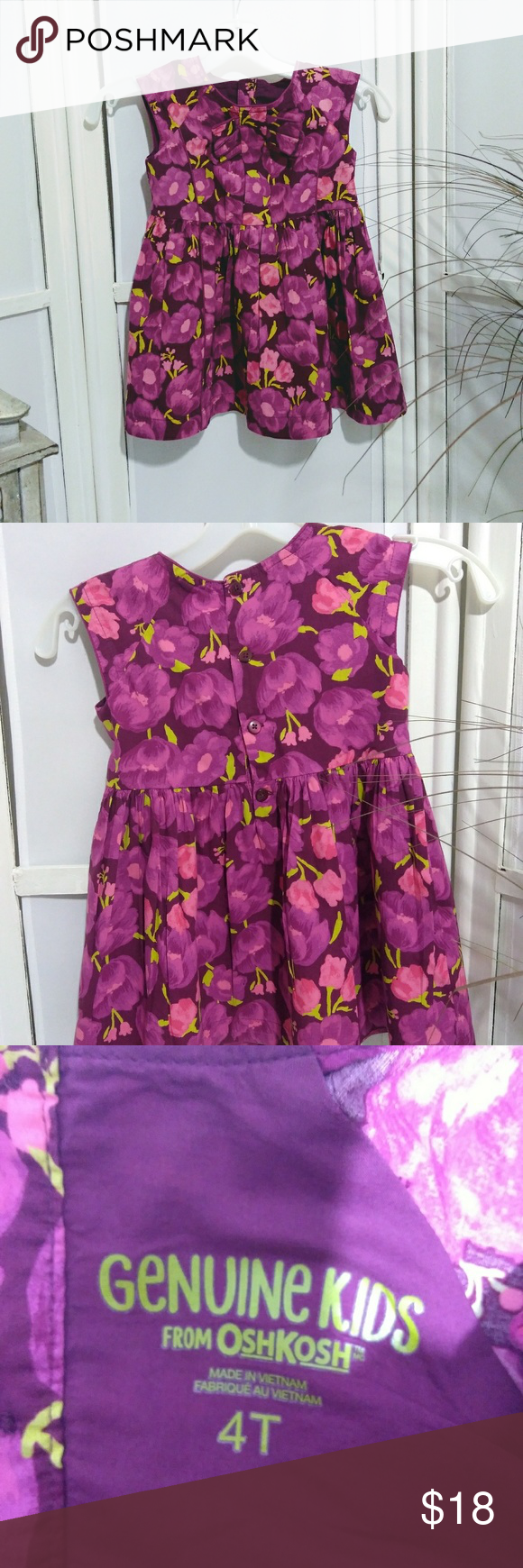 Genuine Kids Size 4t Burgundy Pink Lime Dress Dresses Kids Dresses Casual Dresses [ 1740 x 580 Pixel ]