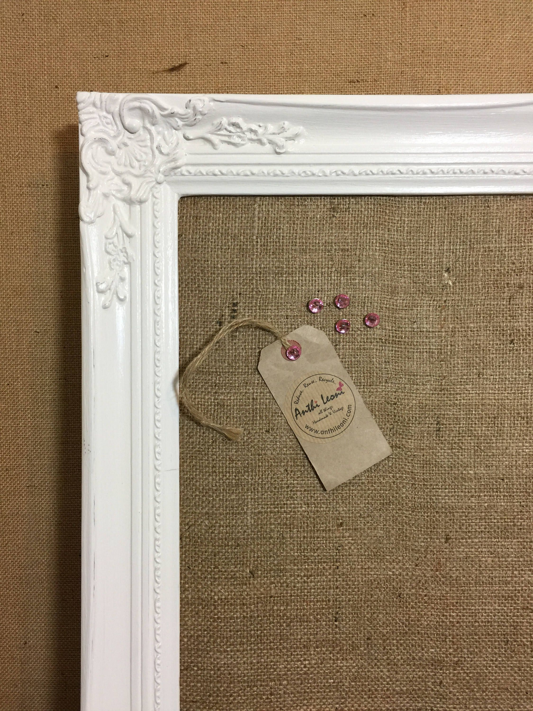 Framed Wedding Table Planner  Extra Large Shabby Chic Hessian