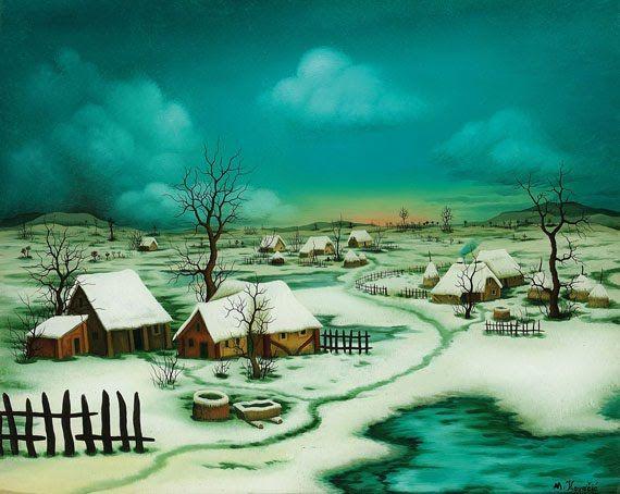 Naive Painting by Mijo Kovacic