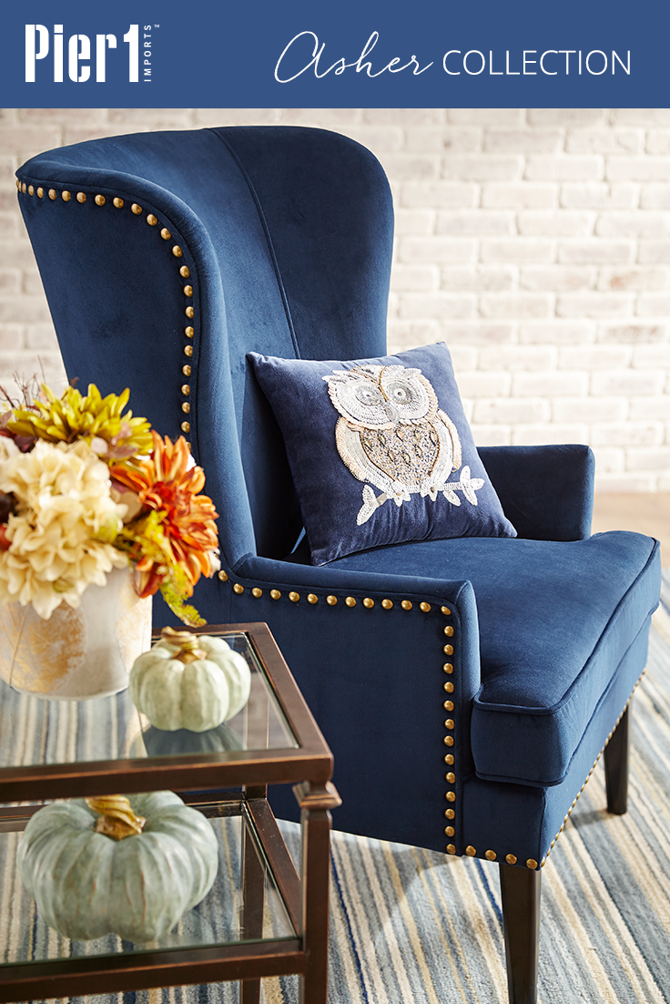 Peachy A Graceful Wing Chair In Search Of A Cozy Corner Pier 1S Short Links Chair Design For Home Short Linksinfo