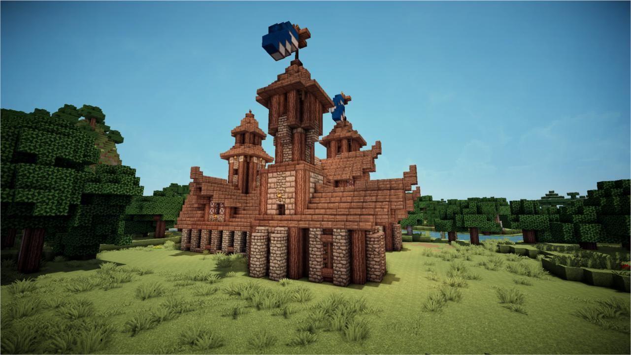 Minecraft Medieval Town Hall Minecraft Medieval Town Hall Medieval Town