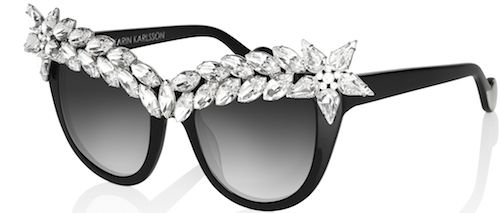 Decadent Luxury Eyewear From Anna- Karin Karlson Cat Eye Glasses, Black  Crystals, Black 85cd140bb9