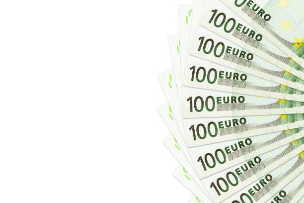 heap of 100 euro bank notes