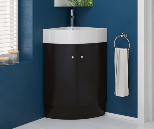 Rivera Black 470 Freestanding Corner Vanity Unit With Sink Bathrooms Com Corner Vanity Unit Corner Vanity Vanity Units