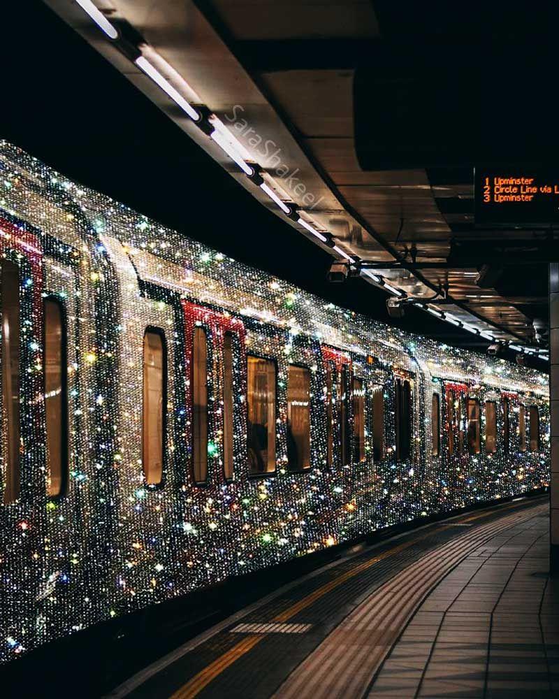 Sara Shakeel's Beautiful Glittering World. #art #photography #glitter #travel #train #sparkling #creative #collage #crystals #maxitendance