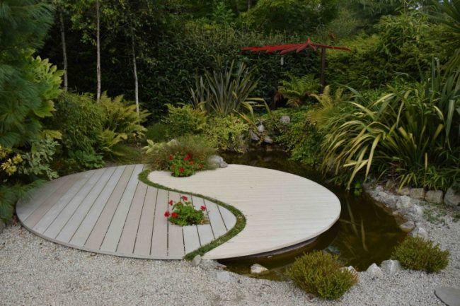 feng-shui-gartendeko-yin-yang-symbol-boden Garten Pinterest - feng shui garten bagua