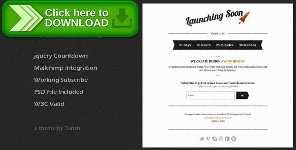Free nulled Vintageo Under Construction / Coming Soon Template download
