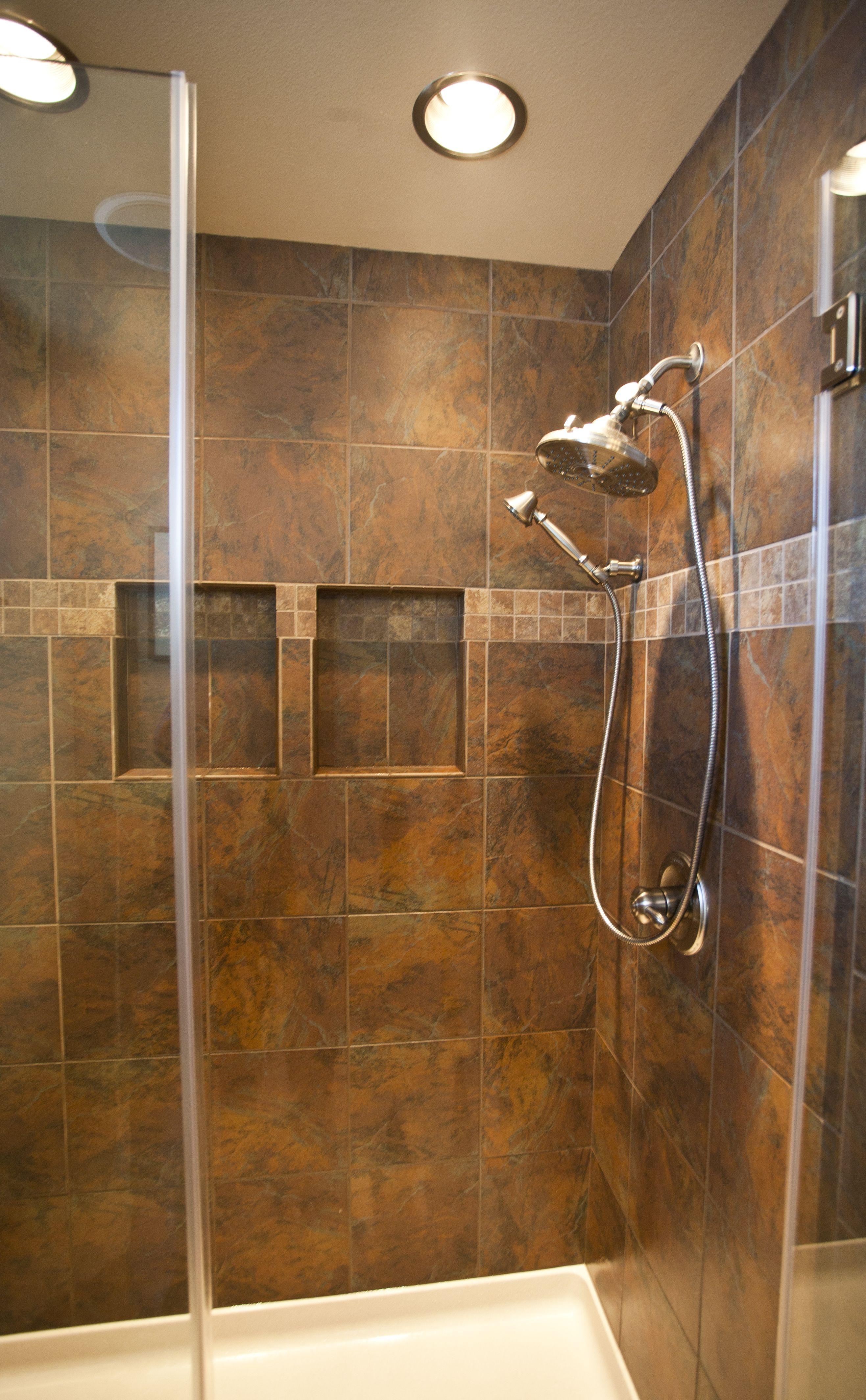 master bath shower in a slate look porcelain tile design by master bath shower in a slate look porcelain tile