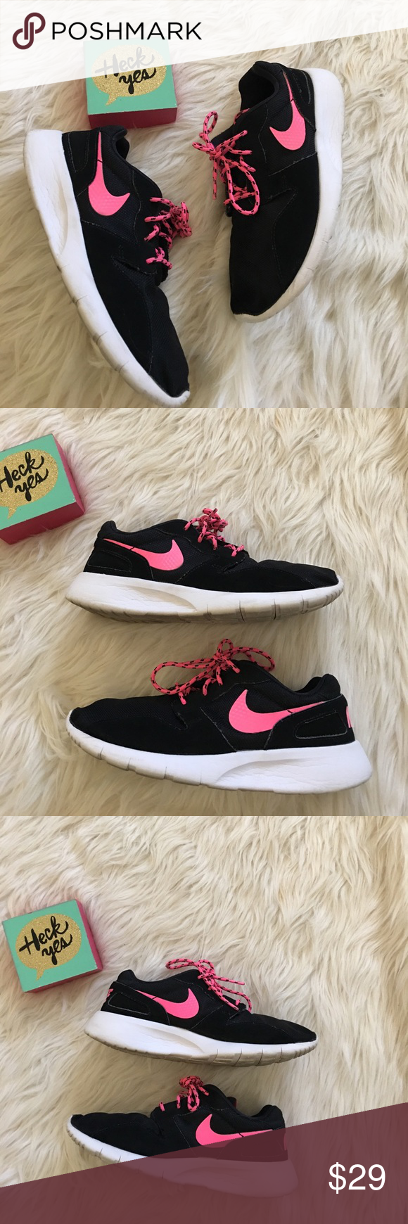NIKE  blue & pink shoes size 6.5 EUC