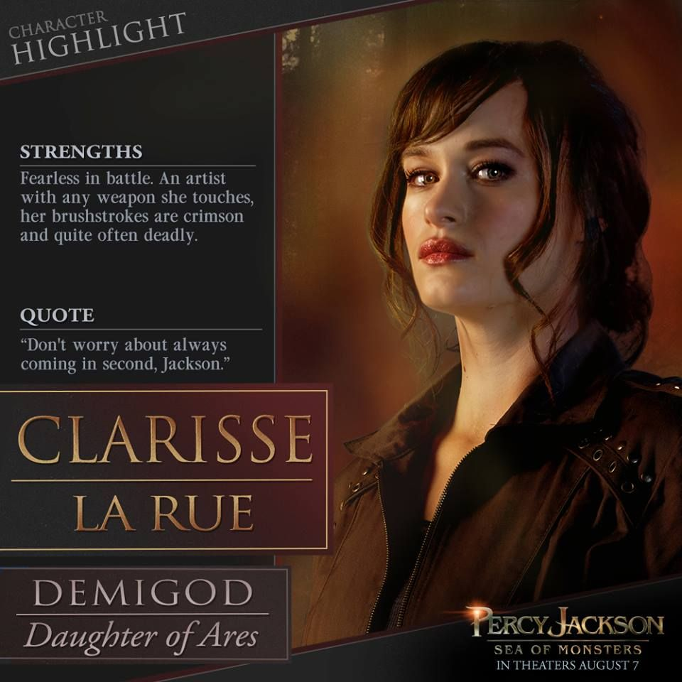 Percy Jackson Sea Of Monsters Clarisse Is Added To The
