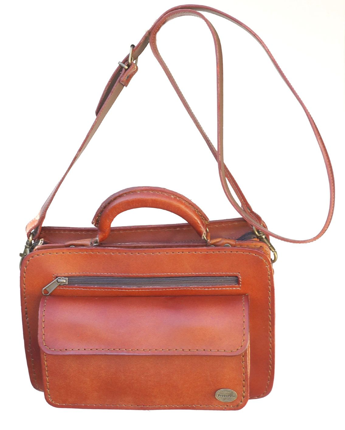 79b2d20dc295 Freestyle Marcia II (Kudu Tan) Genuine Leather Bag. R 1 499. Handcrafted in  South Africa. Width  30cm Height  19.5 cm Gussets  7 cm