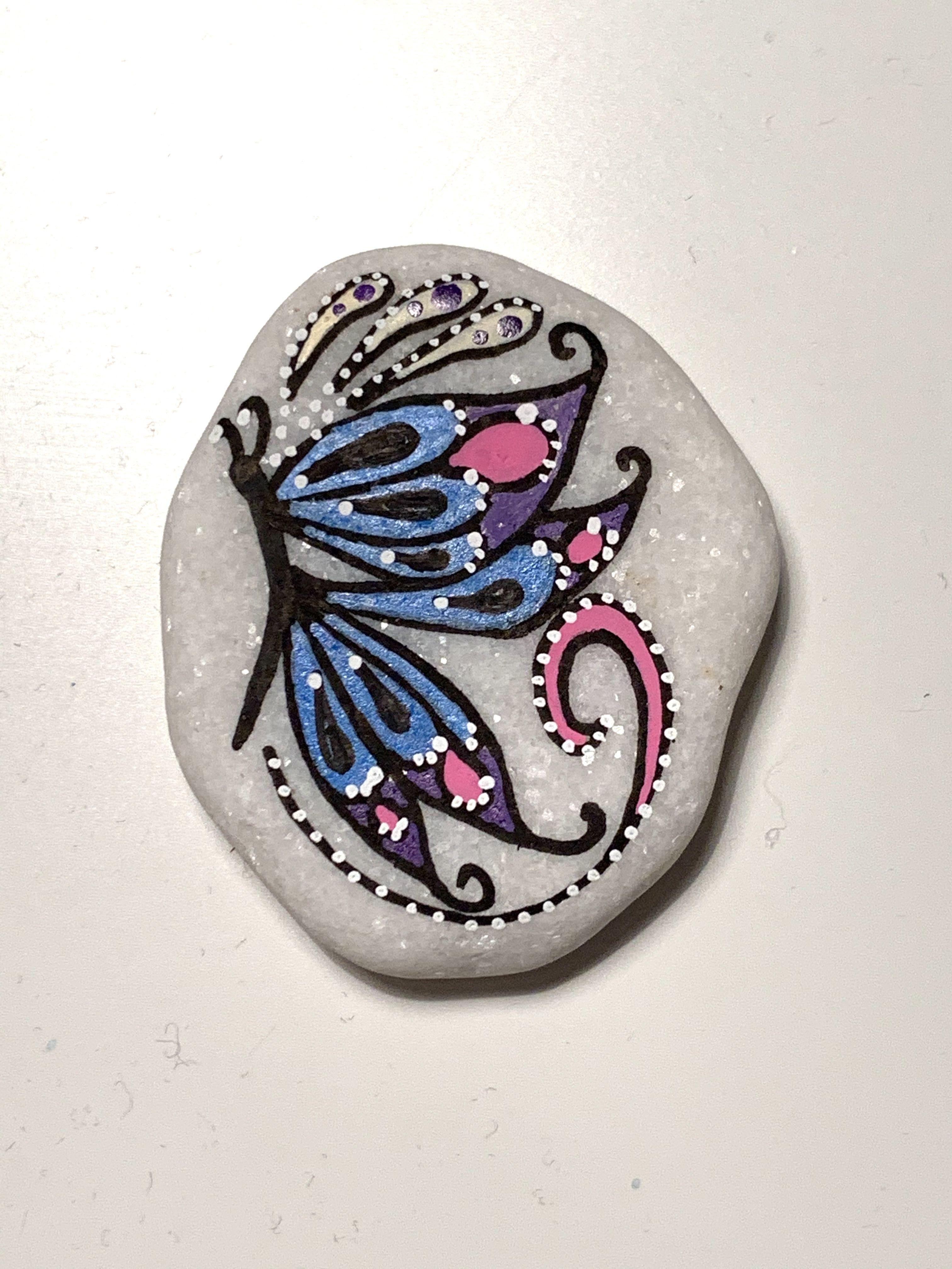 Steinmalerei - Rockart - Schmetterling