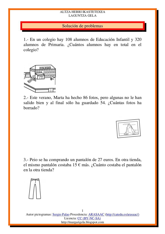 Problemas Tercero Solucion De Problemas Matematicos Matematicas Tercer Grado Matematicas Tercero De Primaria