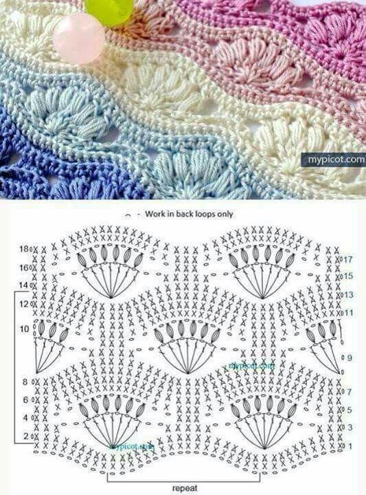 Узоры крючком | узоры крючком | Pinterest | Puntos crochet, Patrones ...