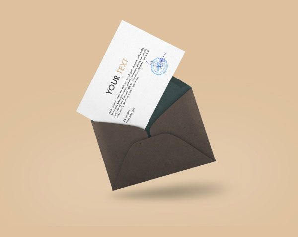 floating envelope mockup mockups psd templates for designers